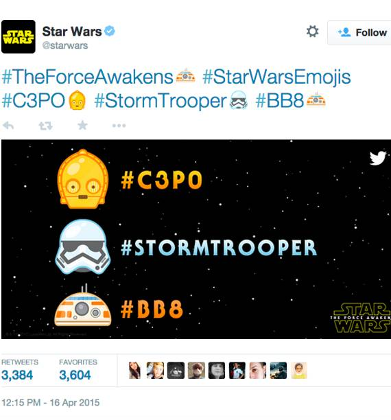 a picture of a Star Wars twitter page