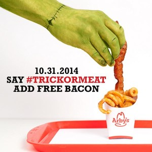 an image of a halloween digital marketing campaigns from Arbys
