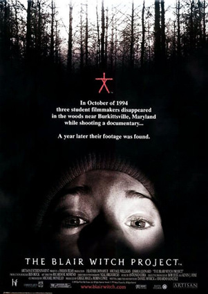 A film marketing poster for the film Blair Witch Project
