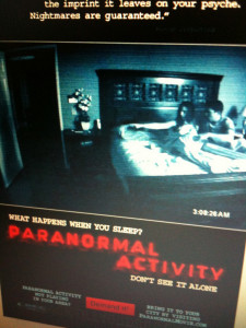 Film marketing for the film Paranormal Activity