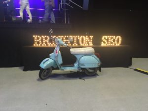 The main stage at September 2017's Brighton SEO