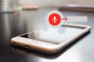 Picture of a phone using voice search