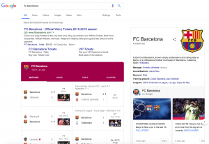 An image of a SERP screenshot