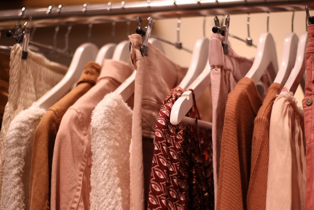 An image of clothes on a hanger.