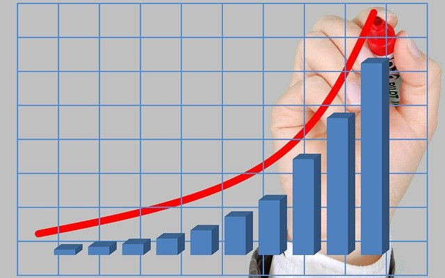 image of revenue on a graph going up