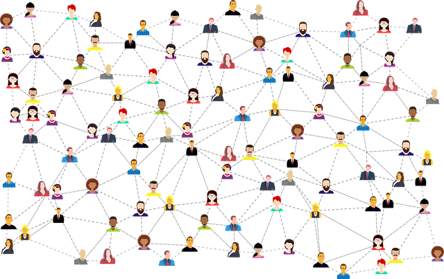 image of lots of people connected online