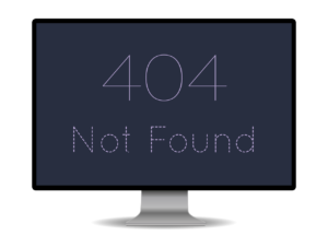 Image of a computer saying 404 Not Found